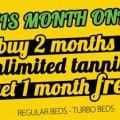 Buy 2 Months Tanning Get 1 FREE