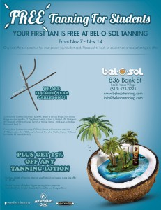 Free Tanning Week for Students
